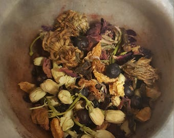 Herb Incense Loose Incense Magickal Herbs Ritual Herbs Pagan Wicca Witch Meditation Spiritual Cleansing Banishing Clearing Divination