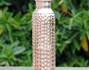 Pure Copper Hammered Leak-proof Joint-less Water Bottle For Kids 600 ml (20.29 fl oz.)