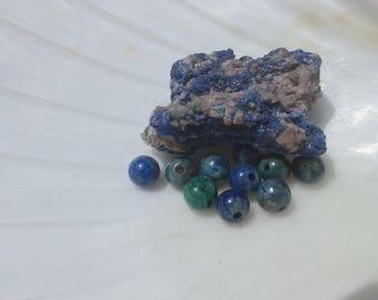 Azurite Malachite 4mm Round Beads