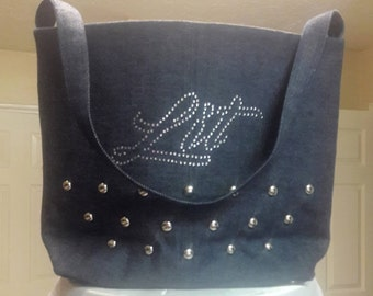 Denim and Diamond Handbag