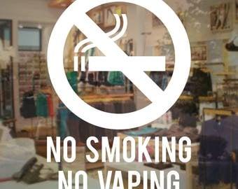No Smoking No Vaping Sign - Vinyl Decal Store Business Sticker
