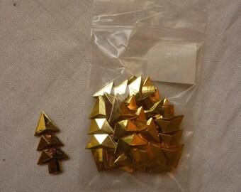 Set of 20 adorable trees: metallic