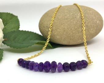 Amethyst Necklace, Gift for Mum, Wife, Girlfriend, Sister, Amethyst February Birthstone, Birthday, Best Friend, Ultraviolet