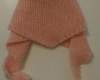 Scarf 1-2 years knitting done but Pom Pom scarf