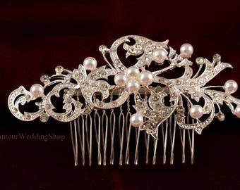 Wedding Hair Comb Silver Hair Comb Bridesmaid's Hair Comb