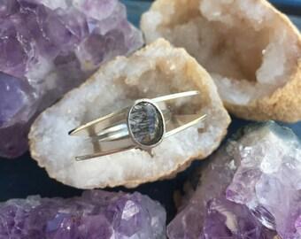 Rutilated Quartz Sculptural Ring