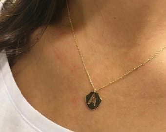 14K Gold Letter Necklace, Personalized Necklace, Available in 14k Gold, White Gold or Rose Gold