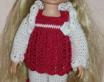 crocheted set for animators doll