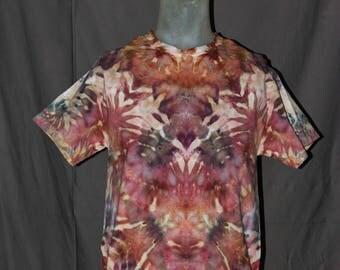 Handmade Ice Tie-Dyed T Shirt: Medium