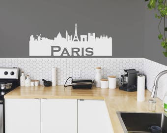 Paris Skyline Silhouette Decal