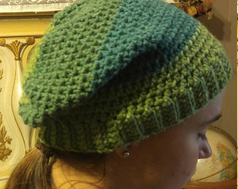 handcrafted slouchy crochet beanie hat