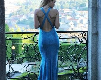 Blue Ocean Mermaid Dress