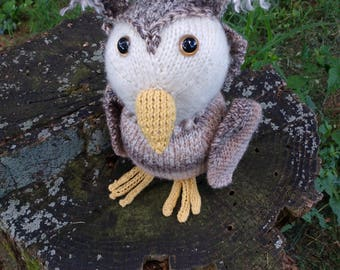 Orion the Owl, Handknit Softie