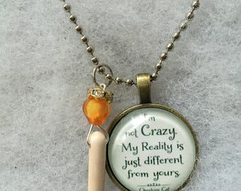 Handmade Crazy Reality Necklace with Charm