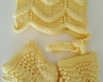Lemon Bonnet and Bootie Set