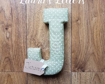 Beautiful handmade padded fabric letters 20cm