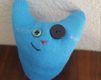 Quirky Blue Sock Doll