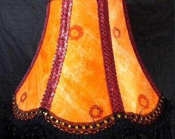"22"" Indian Victorian style Bollywood Standard Lampshade Handmade in Bradford UK"
