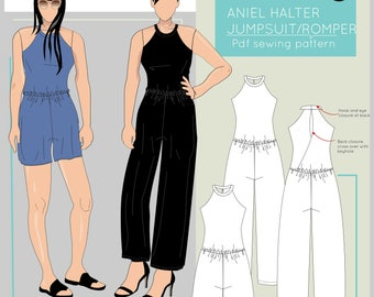 The Aniel Halter Jumpsuit/ Romper