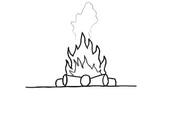 Campfire greeting card