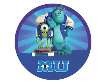 Monsters University Button - Mike and Sulley Button - Theme Park Button - Disney Park Button - Lanyard Pin - Monsters Inc Button