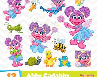 Abby Cadabby Clipart, Abby Cadabby PNG Files, Sesame Street Girl, Digital Printable Designs, Abby Cadabby Birthday Party, Funny-001