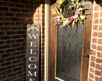 Welcome wood sign | Rustic welcome sign | welcome sign | wood welcome sign | welcome door sign | Front Porch sign | Farmhouse decor