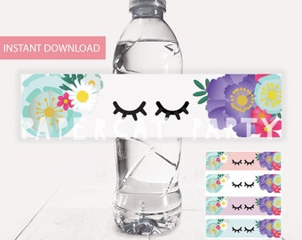 Unicorn Water Bottle labels/ Unicorn Drink Label/ Unicorn Party/ Unicorn Birthday Favors/ Printable Decorations/ PDF/ Instant Download/ DIY