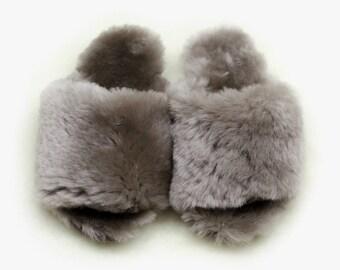 "Sheepskin slippers ""Cosmos """