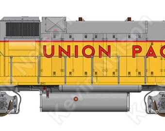 Digital Art Print - EMD GP38-2 Locomotive - Union Pacific 836