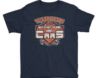 Warning May Start Talking About Cars T-Shirt Youth