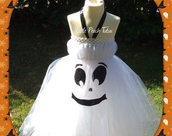 Happy Halloween Ghost Tutu Dress