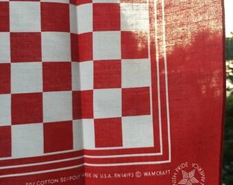 Vintage Checkerboard Bandana
