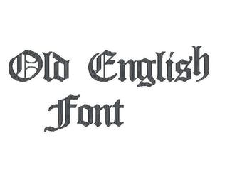 Old English Embroidery Font 3 sizes 10 formats