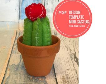 Cute Mini Flowering Cactus Tutorial * Make a Mini Flowering Cactus * Printable PDF Tutorial