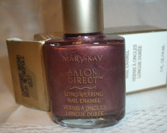 Mary Kay Downtown Brown Salon Direct nail polish Long wearing Enamel a shimmer shade .5 oz. Full size Shop store sale InonasCosmetics
