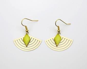 Earrings with geometrical Glazed Lemon #1557 range
