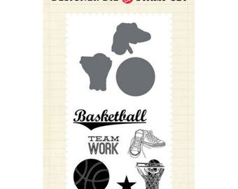 Echo Park Paper Basketball Stamp and Die Set
