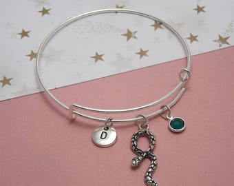 Silver snake bracelet silver Snake bangle bracelet Snake jewelry bracelet Snake charm bracelet Snake bracelet charm Snake jewelry for women