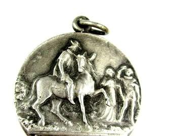 Antique 1922 Saint Theresa Little Flower Canonization Medal,Vintage Third Centenary Commemorative Medal,St Therese Child Jesus Medal Pendant
