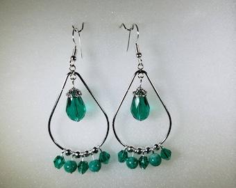 Handmade Teardrop Chandelier Earrings