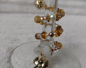 Angels of Gold Stem-Wrap Wine Charm