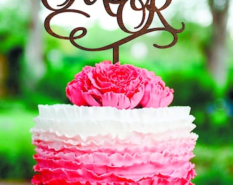 Cake Topper R Letter M cake topper Initials Personalised Topper M Wood cake topper letter R cake toppers  Wedding Cake Topper gold rustic
