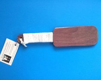 Hairbrush Style Purpleheart Spanking Paddle