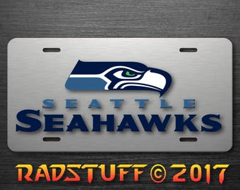 """Seattle Seahawks Image  Novelty License Plate 6""""x12"""""""