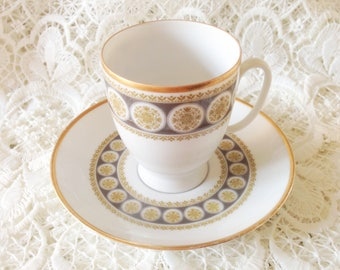 Porcelain cup and dish. Vintage. Mosa Maastricht Holland.