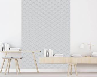 sterling bleu papier peint adh sif repositionnable. Black Bedroom Furniture Sets. Home Design Ideas