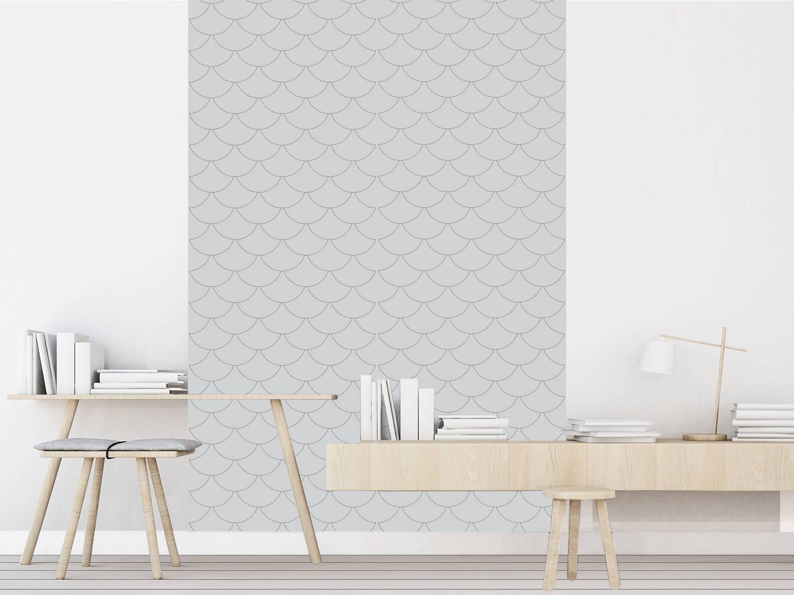 Hoffmann gris papier peint adh sif repositionnable for Papier peint adhesif repositionnable