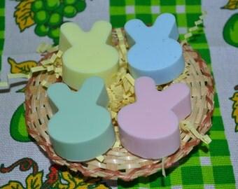 Easter Bunny Soaps (Set of 4), Easter Basket Soap, Blue Bunny Soap, Easter Gifts, Bunny Handmade Soap, Bunny Soap, Easter Basket, Rabbit Soa