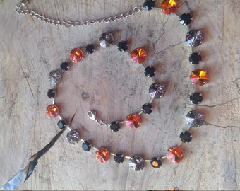 Black & Orange Necklace